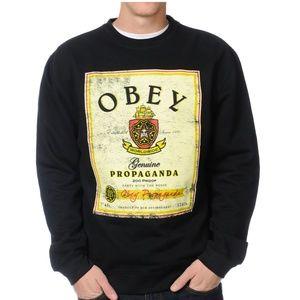 Obey Whiskey Posse Flyer Crew Neck Sweatshirt